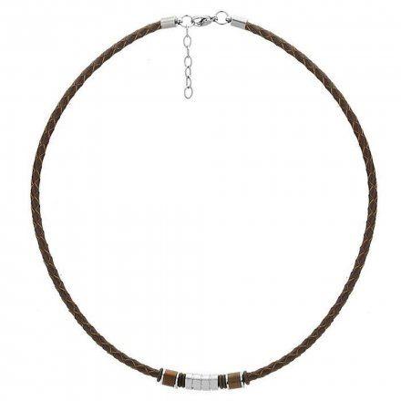 Biżuteria Manoki Skórzany naszyjnik męski WA260A