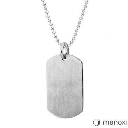 Biżuteria Manoki Stalowy naszyjnik męski WA424