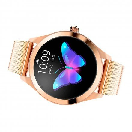 Różowozłoty smartwatch damski Rubicon RNBE37RIBX05AX