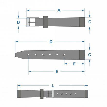 Oryginalny Pasek Atlantic Model PA ATL L190.01.14S 14 mm