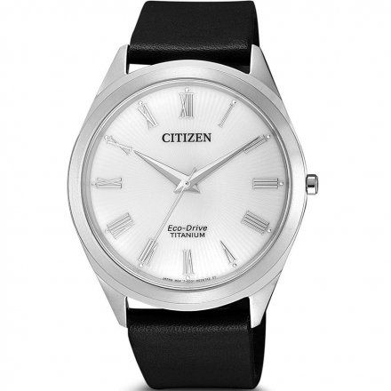 Citizen BJ6520-15A Zegarek Męski na pasku Eco Drive Super Titanium Citizen