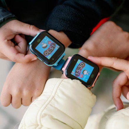 Smartwatch Lokalizator Garett Kids Fine Czarno-Niebieski