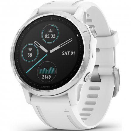 Zegarek Garmin Fenix 6S Biały z białym paskiem 010-02159-00