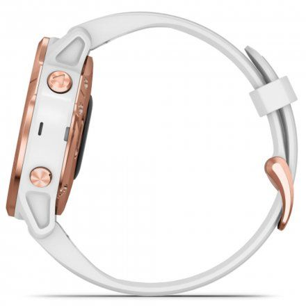 Zegarek Garmin Fenix 6S PRO Różowozłoty z białym paskiem 010-02159-11