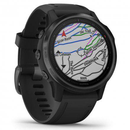 Zegarek Garmin Fenix 6S PRO Czarny z czarnym paskiem 010-02159-14