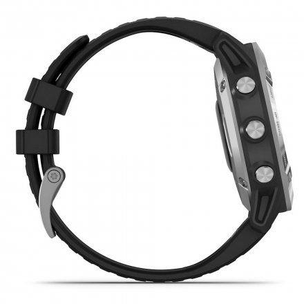 Zegarek Garmin Fenix 6 Srebrny z czarnym paskiem 010-02158-00