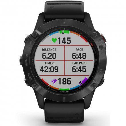 Zegarek Garmin Fenix 6 PRO z czarnym paskiem 010-02158-02