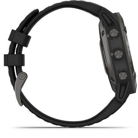 Zegarek Garmin Fenix 6 PRO Sapphire Szary DLC z czarnym paskiem 010-02158-11