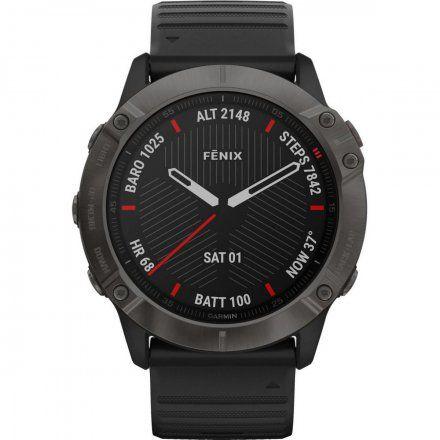 Zegarek Garmin Fenix 6X PRO Sapphire Czarny DLC z czarnym paskiem 010-02157-11