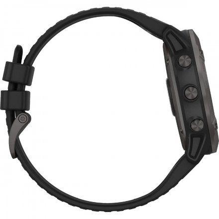 Zegarek Garmin Fenix 6X PRO Solar Tytan z czarnym paskiem 010-02157-21