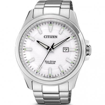 Citizen BM7470-84A Zegarek Męski na bransolecie Eco Drive Titanium