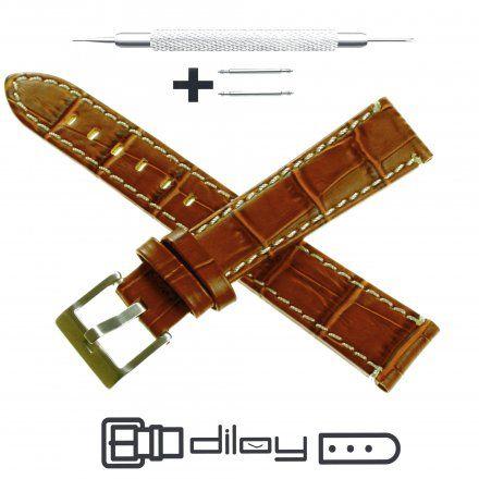 Pasek DILOY Superior 361.14.03 Skórzany Brązowy 14 mm - GRATIS dwa teleskopy i narzędzie