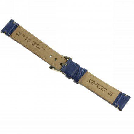 Pasek DILOY Superior 361.16.05 Skórzany Granatowy 16 mm - GRATIS dwa teleskopy i narzędzie