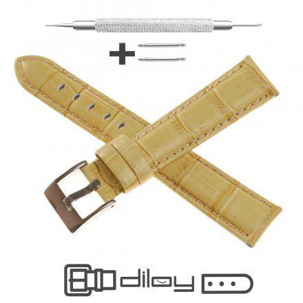 Pasek DILOY Superior 368.18.17 Skórzany Beżowy 18 mm - GRATIS dwa teleskopy i narzędzie