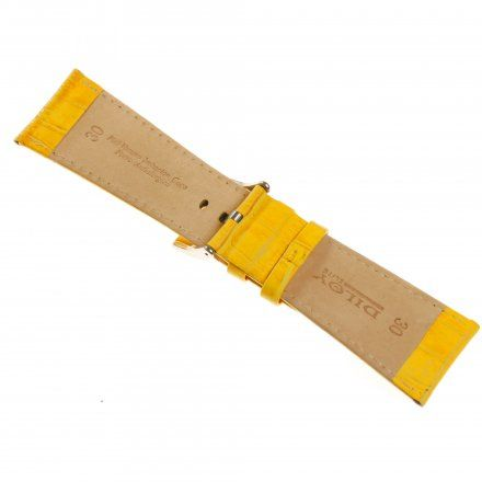Pasek DILOY Superior 368EA.26.10 Skórzany Żółty 26 mm - GRATIS dwa teleskopy i narzędzie
