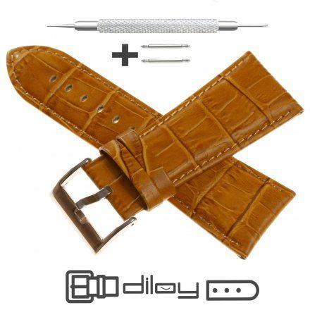Pasek DILOY Superior 368EA.28.09 Skórzany Jasnobrązowy 28 mm - GRATIS dwa teleskopy i narzędzie