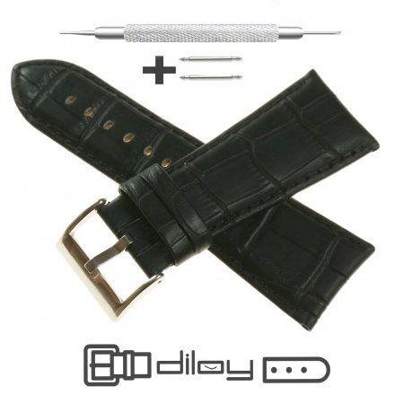Pasek DILOY Superior 368EA.30.01 Skórzany Czarny 30 mm - GRATIS dwa teleskopy i narzędzie
