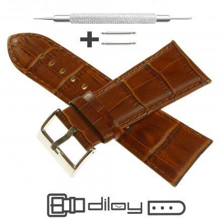 Pasek DILOY Superior 368EA.30.03 Skórzany Brązowy 30 mm - GRATIS dwa teleskopy i narzędzie