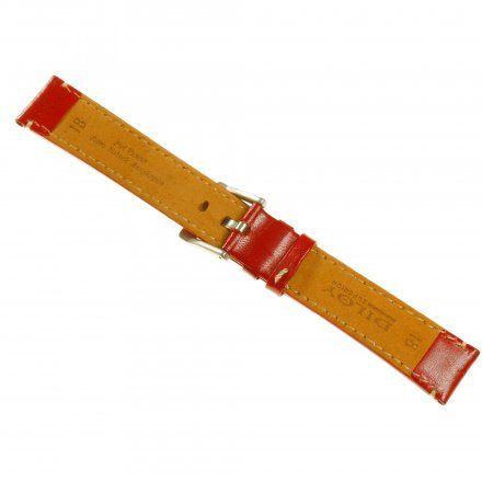 Pasek DILOY Fashion 373.14.06 Skórzany Czerwony 14 mm - GRATIS dwa teleskopy i narzędzie