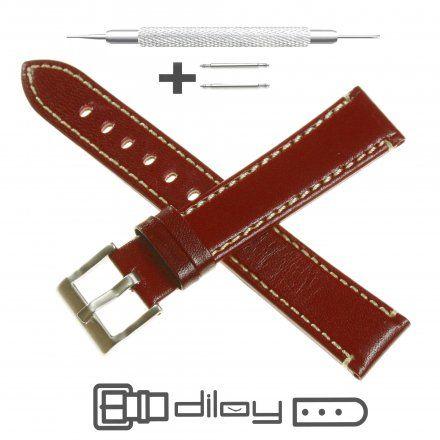 Pasek DILOY Fashion 373.16.04 Skórzany Brąz 16 mm - GRATIS dwa teleskopy i narzędzie