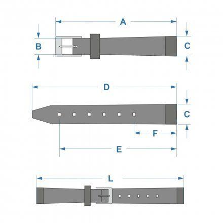 Pasek DILOY Fashion 373.16.07 Skórzany Szary 16 mm - GRATIS dwa teleskopy i narzędzie