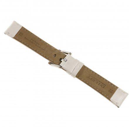 Pasek DILOY Fashion 373.16.22 Skórzany Biały 16 mm - GRATIS dwa teleskopy i narzędzie