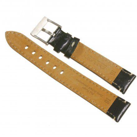 Pasek DILOY Fashion 373.18.01 Skórzany Czarny 18 mm - GRATIS dwa teleskopy i narzędzie