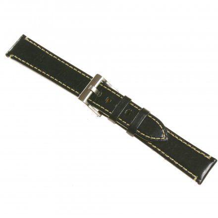 Pasek DILOY Fashion 373.20.01 Skórzany Czarny 20 mm - GRATIS dwa teleskopy i narzędzie