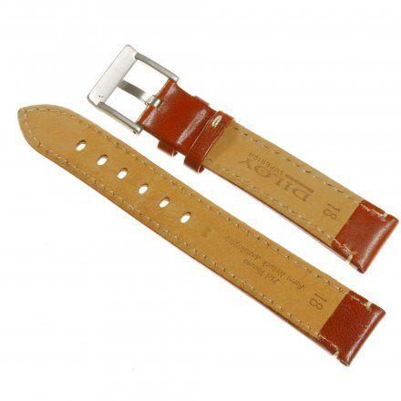 Pasek DILOY Fashion 373.20.03 Skórzany Jasny Brąz 20 mm - GRATIS dwa teleskopy i narzędzie