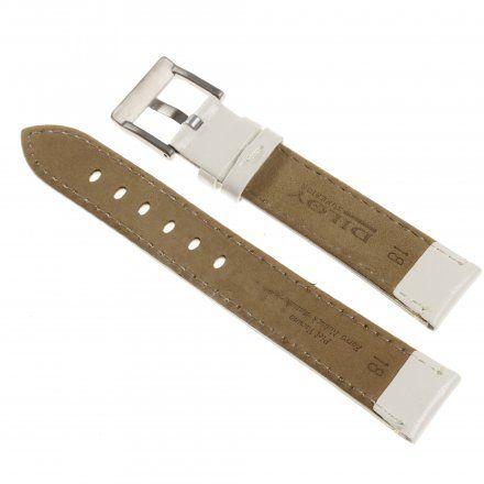 Pasek DILOY Fashion 373.20.22 Skórzany Biały 20 mm - GRATIS dwa teleskopy i narzędzie