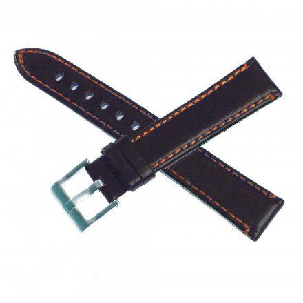 Pasek DILOY Fashion 373.20.56 Skórzany Czarny 20 mm - GRATIS dwa teleskopy i narzędzie