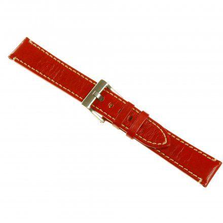Pasek DILOY Fashion 373.22.06 Skórzany Czerwony 22 mm - GRATIS dwa teleskopy i narzędzie