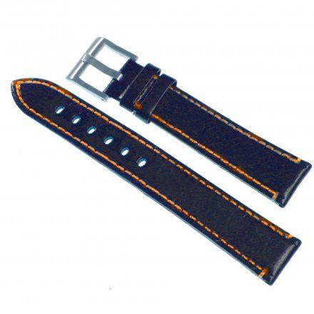 Pasek DILOY Fashion 373.22.56 Skórzany Czarny 22 mm - GRATIS dwa teleskopy i narzędzie