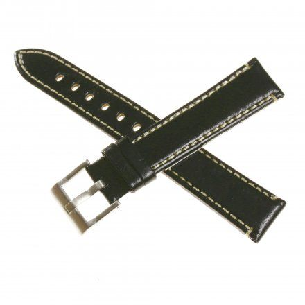 Pasek DILOY Fashion 373.24.01 Skórzany Czarny 24 mm - GRATIS dwa teleskopy i narzędzie
