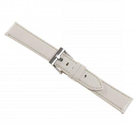 Pasek DILOY Fashion 373.24.22 Skórzany Biały 24 mm - GRATIS dwa teleskopy i narzędzie