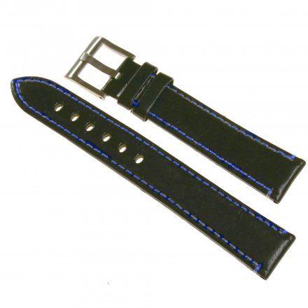 Pasek DILOY Fashion 373.24.52 Skórzany Czarny 24 mm - GRATIS dwa teleskopy i narzędzie