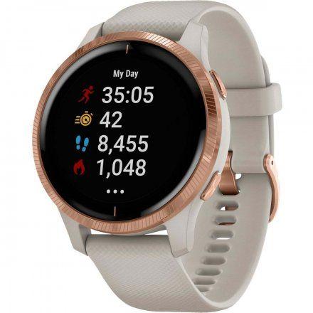 GARMIN Venu HR GPS Piaskowy z detalami w kolorze różowego złota 010-02173-23