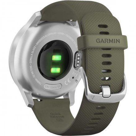 GARMIN Vivomove Style Srebrny z zielonym paskiem 010-02240-21
