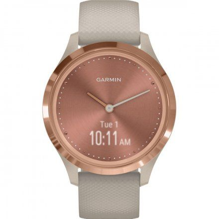 GARMIN Vivomove 3S Różowozłoty z piaskowym paskiem 010-02238-22