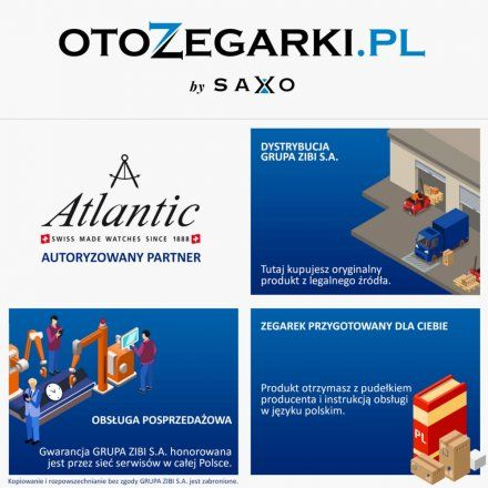 Zegarek Damski Atlantic Elegance Square 29041.41.11GMB