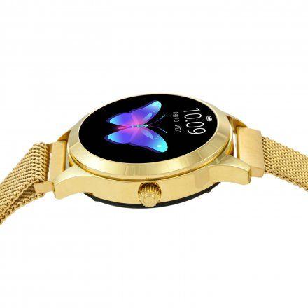 Złoty Smartwatch damski Rubicon RNBE37GIBX05AX