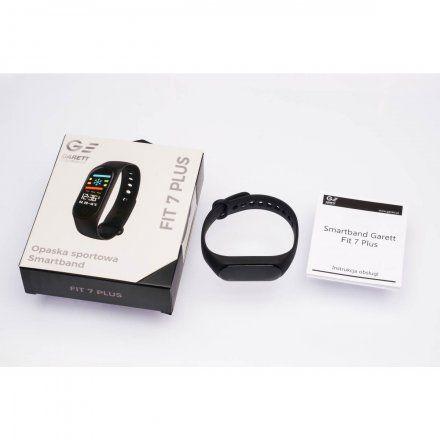 Opaska sportowa Smartband Garett Fit 7 Plus Czarna