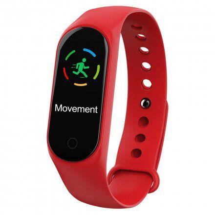 Opaska sportowa Smartband Garett Fit 7 Plus Czerwona