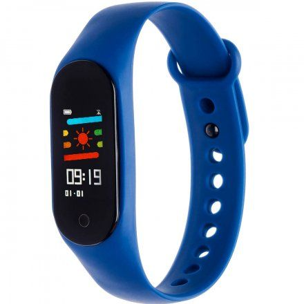 Opaska sportowa Smartband Garett Fit 7 Plus RT Niebieska