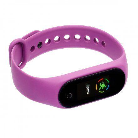 Opaska sportowa Smartband Garett Fit 7 Plus RT Fioletowa