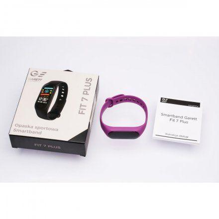 Opaska sportowa Smartband Garett Fit 7 Plus Fioletowa