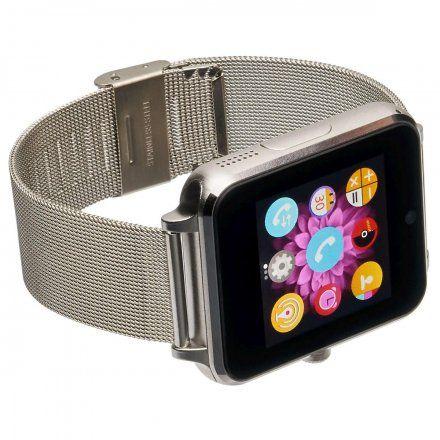 Smartwatch Garett G25 Plus srebrny z bransoletką