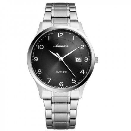 Zegarek Męski Adriatica na bransolecie A8305.5124Q - Zegarek Kwarcowy Swiss Made