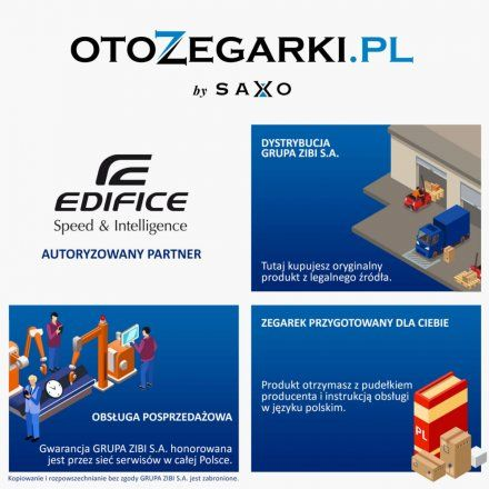 Zegarek Męski Casio EFR-569BL-2AVUEF Edifice EFR 569BL 2AV