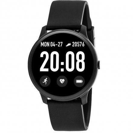 Czarny smartwatch męski damski Rubicon RNCE40BIBX01AX